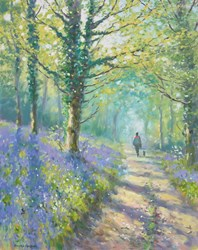 Bluebell (Bridle Path) by James Preston - Original Painting on Stretched Canvas sized 16x20 inches. Available from Whitewall Galleries